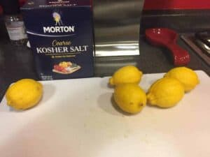 Lemons and salt