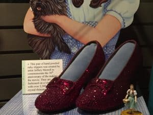 Oz Museum Ruby Slippers 50th Anniversary
