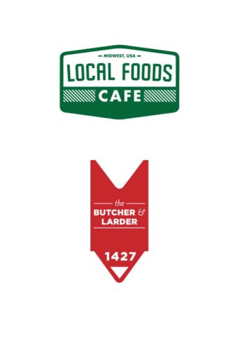Local Foods The Butcher and Larder logos