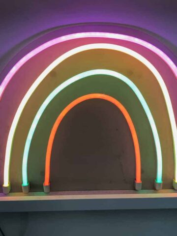 wonderland productions rainbow neon lights