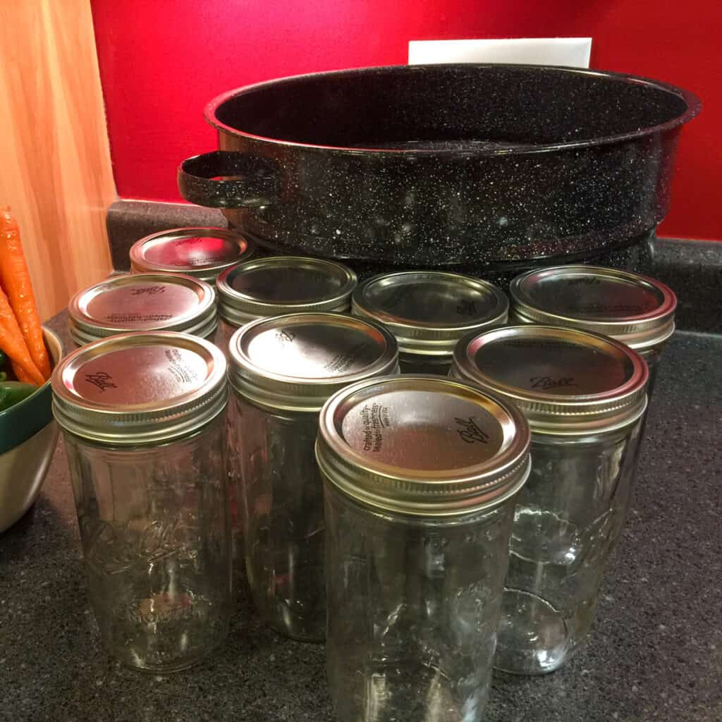 Water bath canning is the process only for quick canning of pickles, fruits, vegetables, jams and jellies, and preserves.