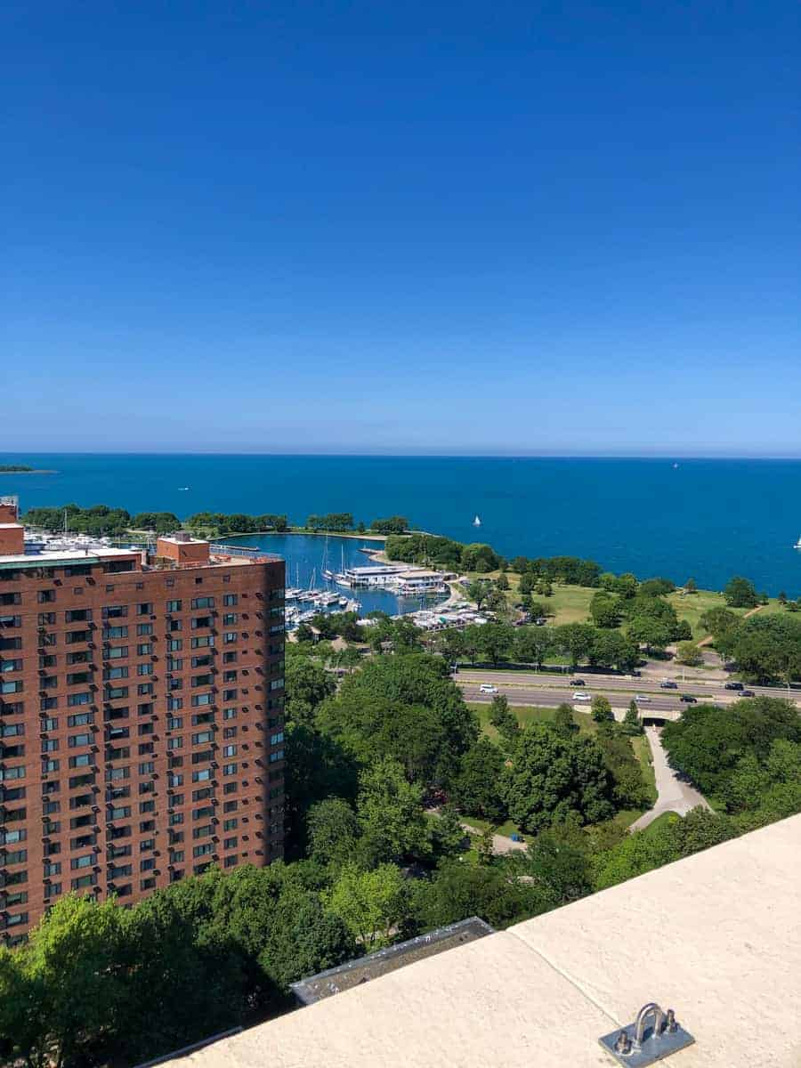Chef Joe Morales in Lakeview Chicago IIllinois overlooking Lake Michigan