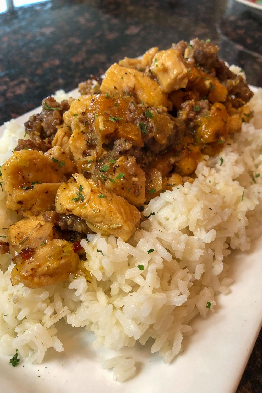 Chicken Scarpariello with Rice